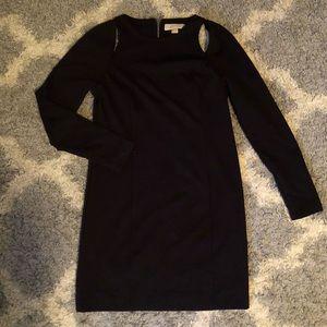 [Michael Kors] Black Long Sleeve Cut Out Dress